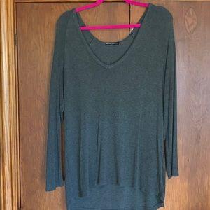 Brandy Melville ultra soft knit grey sweater top